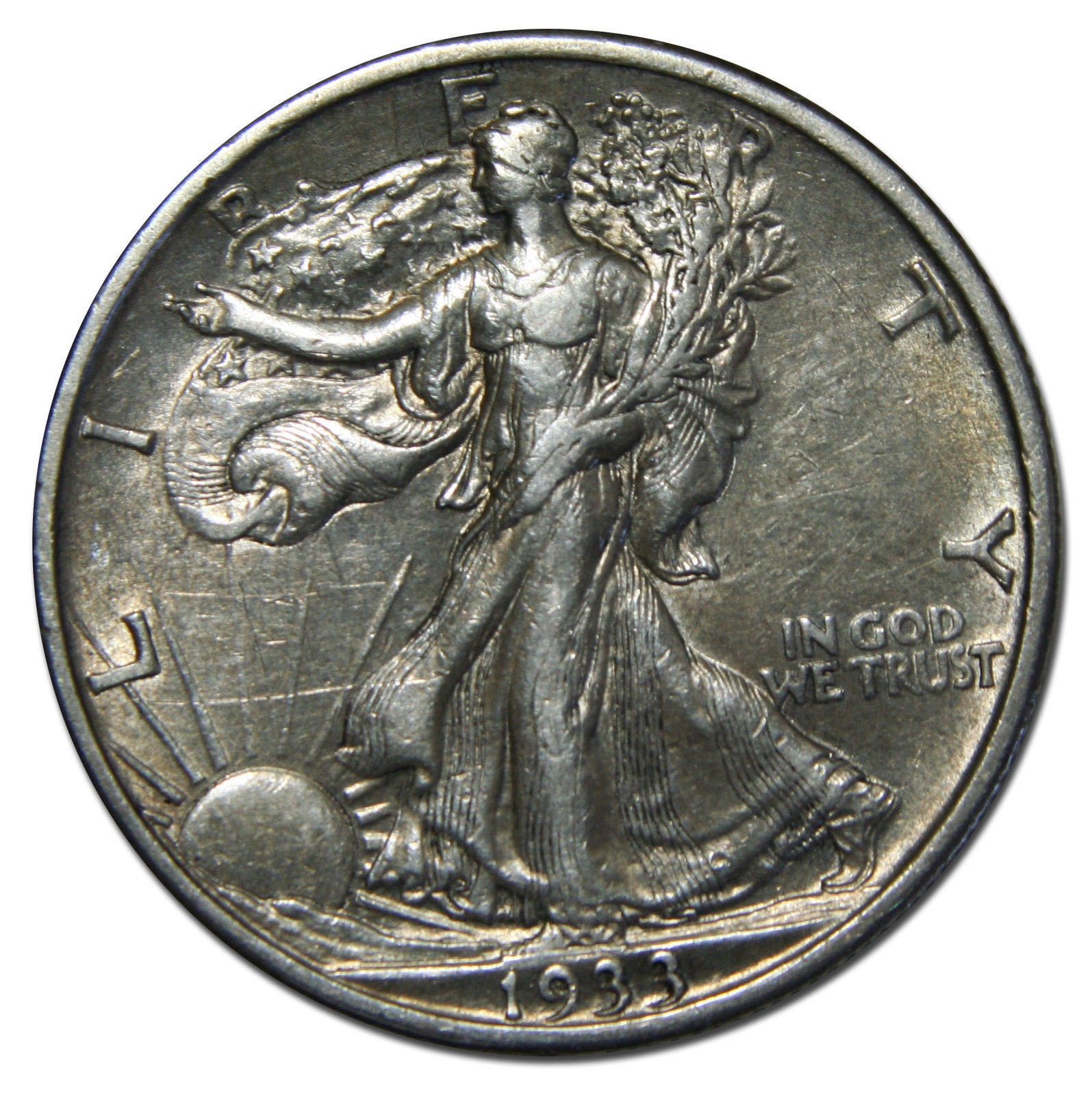 1933S Walking Liberty Half Dollar 90% Silver Coin Lot# B 3