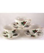 Lefton holly demitasse tea cups 1 thumbtall