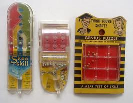 3 Early 1960s Plastic Games Genius Coman Tatar Puzzle Skee Skill Marx Wi... - $9.99
