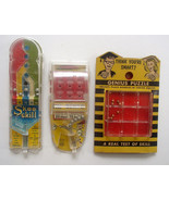 3 Early 1960s Plastic Games Genius Coman Tatar Puzzle Skee Skill Marx Wi... - $9.99
