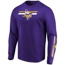 Mens Majestic Minnesota Vikings Dual Threat Long Sleeve NFL Tee Med MSRP... - $25.99