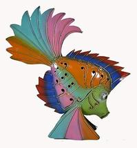 BEAUTIFUL UNIQUE RAINBOW NAUTICAL FISH candle holder CONTEMPORARY METAL ... - $37.56