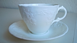 Coalport Sevres White Flat Cup and Saucer Set - $28.47