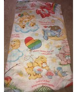 Vintage Care Bears Multi Colored Fitted Bed Sheet Twin size  - $23.00