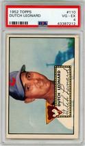 1952 Topps Dutch Leonard #110 PSA 4 P665 - $24.11