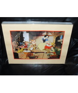 1994 Disney Snow White & The Seven Dwarfs Framed Lithograph - $24.99