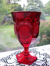 Fostoria Ruby Coin Wine Goblet - $45.00