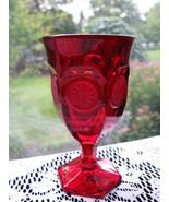 Fostoria Ruby Coin Wine Goblet - $45.00