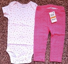 Girl's Size 12 M 9-12 Months NWOT Carter's Cherry Top + NWT Pink Floral ... - $23.00