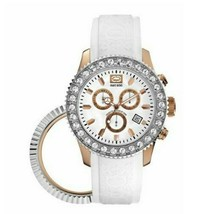 Marc Ecko E18506G4 Women's White leather Strap with White Analog Dial Watch - $38.35