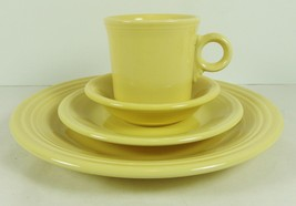 Fiesta Light Yellow Dinner Salad Plates Mug Fruit Bowl Discontinued Color HLC - $32.66