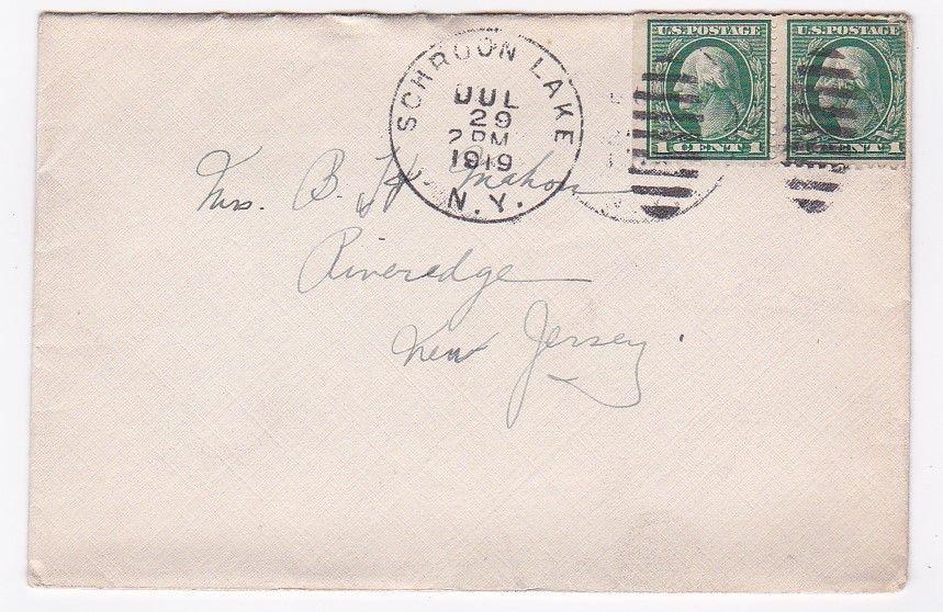 SCHROON LAKE, NEW YORK JULY 29 1919