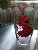 Vintage  Drinking Glass Southern Belle Lady Scotty Dog Red Black tall gl... - $9.99
