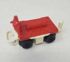 FISHER PRICE GEO TRAX RED & WHITE CART VEHICLE REPLACEMENT PART PIECE - $9.50