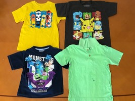Lot of 4 Boys Kids The Children's Place Blue Monsters Pokemon T-Shirts S... - $17.81