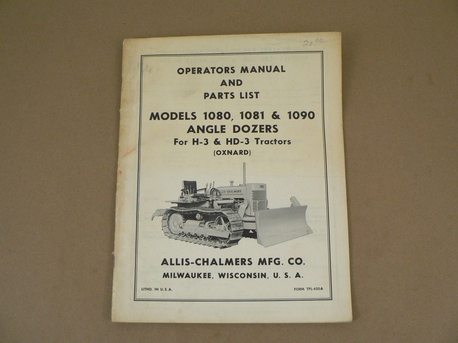 Allis Chalmers 1080 1081 1090 Angle Dozers and 29 similar items