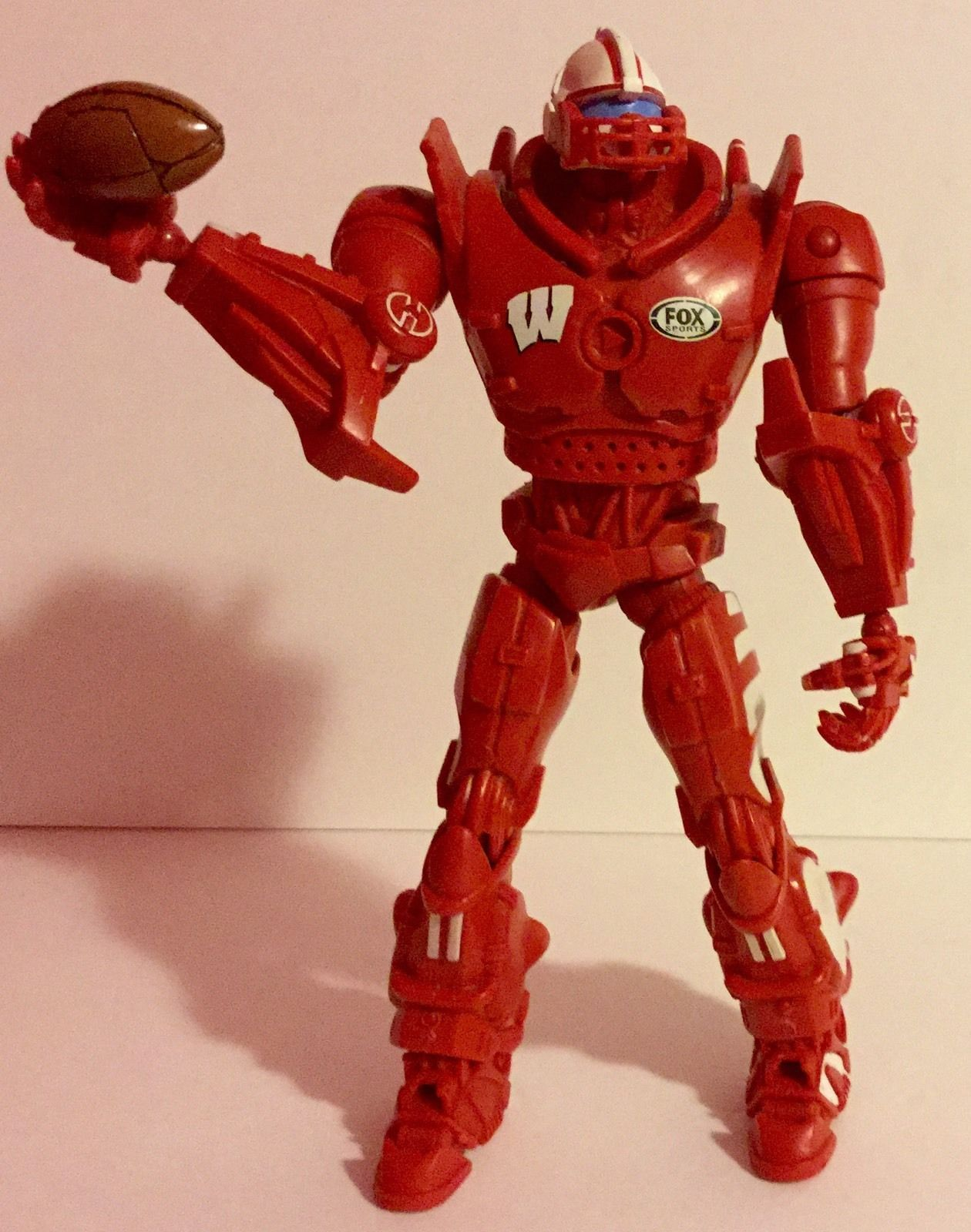 "WISCONSIN BADGERS FOX SPORTS CLEATUS ROBOT 10"" Football Action Figure GO BADGERS"