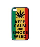 NEW iPhone 4 Hard Black Case Cover Keep Calm And Smoke Weed Gift 32854745 - $17.99