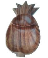Monkeypod Wood Serving Bowl Pineapple Shape Large - $16.00