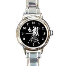 Ladies Round Italian Charm Bracelet Watch Virgo Zodiac Sign Gift model 3... - $11.99