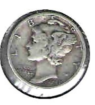 Nice 1943 D Mercury Dime - $4.00