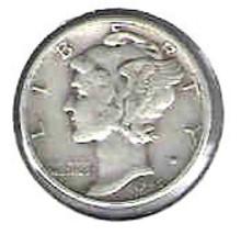 Nice 1945 P Mercury Dime - $4.00