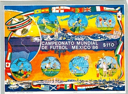 Primary image for 1986 Mexico World Cup Souvenir Sheet