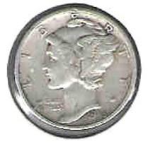 Nice 1945 S Mercury Dime - $4.00