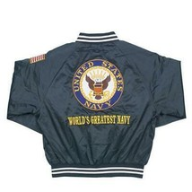 U.S. Navy Satin Jacket - Blue - $79.95