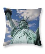 Lady Liberty, Throw Pillow, seat cushion, fine art photo, statue of Liberty - $41.99 - $69.99