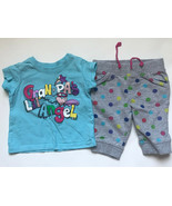 """Girl's Size 9m 6-9 Months 2 Pc Blue PLACE """"Grandpa's Lil' Angel"""" Top + C... - $15.00"""
