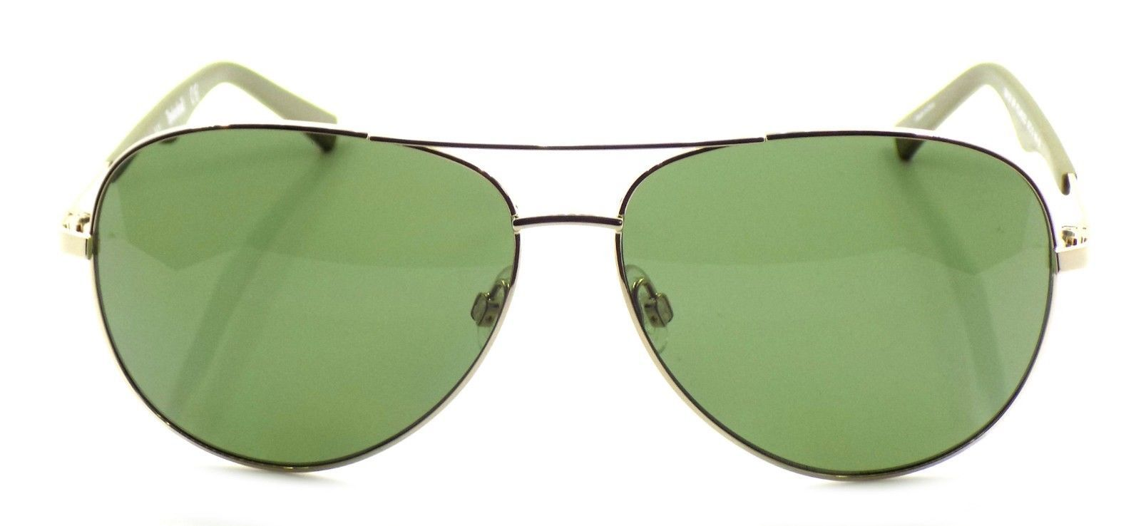TIMBERLAND TB9109 30R Polarized Sunglasses GOLD 59-13-140 Green Lens + CASE