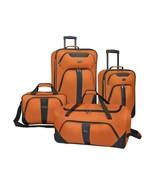 U.S. Traveler 4-Piece Luggage Set Orange Travel Vacation Rolling Bag Sui... - $111.99