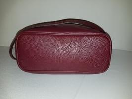 Michael Kors Bucket Shoulder Frankie Oxblood Burgundy Leather Cross Body Bag image 6