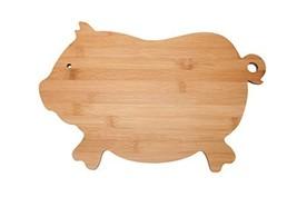 All Natural Bamboo Cutting Board Pig Bamboo Kitchen Country Decor Bar Se... - $15.03