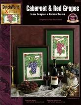 Cabernet & Red Grapes In Cross Stitch Stitch World Leaflet 03-144 L - $5.95