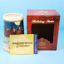 2005 Budweiser Stein Bière Vacances Clydesdale Cheval Tasse Cadeau Boîte... - $15.08