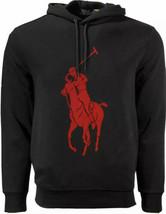 Polo Ralph Lauren Big Pony Double Knit Hoodie Sweatshirt Sweater Black Men's L - $106.42