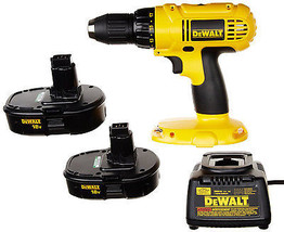 DeWALT 18V  Cordless Drill Driver Kit w 2 Nicad Batteries Compact Power ... - $134.13