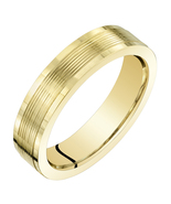 Ladies 14K Yellow Gold 4mm Classic Fit Wedding Band - $239.99