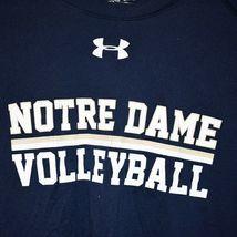 Under Armour Men's Loose HeatGear Notre Dame Volleyball Navy Blue Shirt Size XL image 4