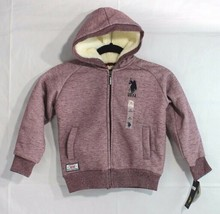 U.S. Polo Assn. little youth boys hoodie jacket zipper front warm size M 5-6 - $21.99