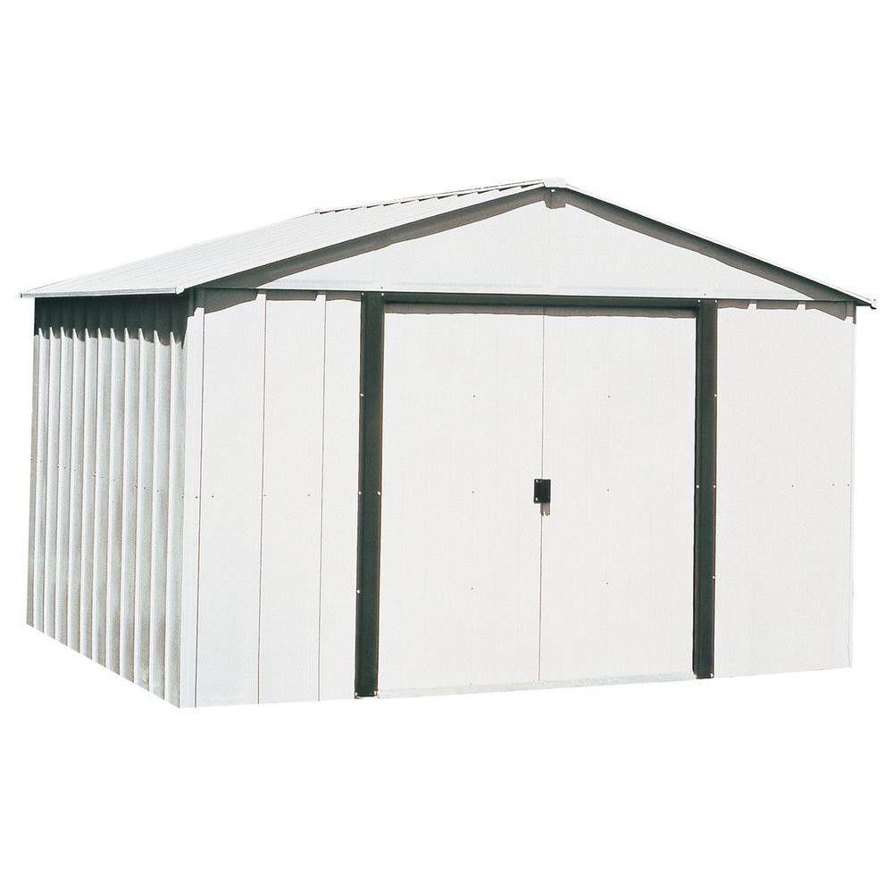 Steel Storage Building Peak 10 x 8 Double Lockable Door Latch Outdoor Garden New