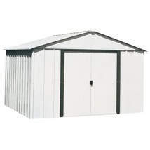 Steel Storage Building Peak 10 x 8 Double Lockable Door Latch Outdoor Ga... - $540.99