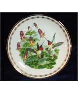 Ruby Throated Hummingbirds From Hamilton Jeweled Hummingbird Plate Colle... - $19.99