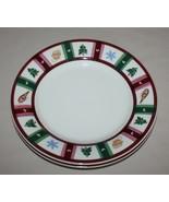2 Pfaltzgraff Polar Snow Bear Dinner Plates Christmas Tree Mittens  - $10.84
