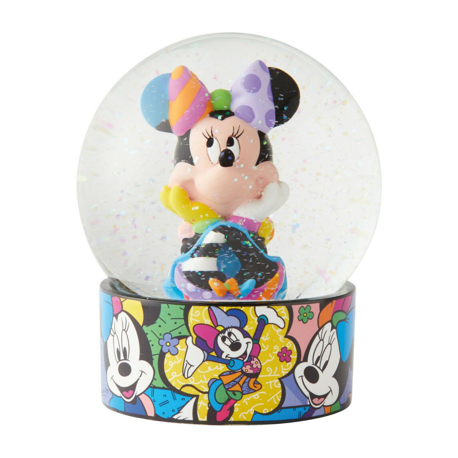 "Disney Britto Minnie Mouse Water Ball Globe w Glitter 5.12"" Collectible Gift"