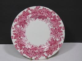 Vtg Coalport Bone China England Pink Maple Leaves & Ferns Lunch Plate 7.75 - $21.78