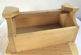 """Large Vintage Hand Made Wooden Tool Box 18 x 10.5 x 9.5"""" Hard Wood Stron... - $27.08"""