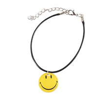 11 Styles Emoji Picture Pendant Necklace Leather Chain Fashion Emoticons... - $12.96+